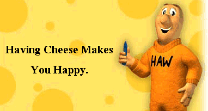understanding the having cheese makes you happy quote in who moved my cheese a short story