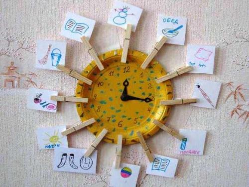 Поделки для детей часы своими руками