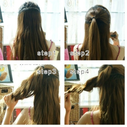 the gallery for gt simple korean hairstyle tutorial