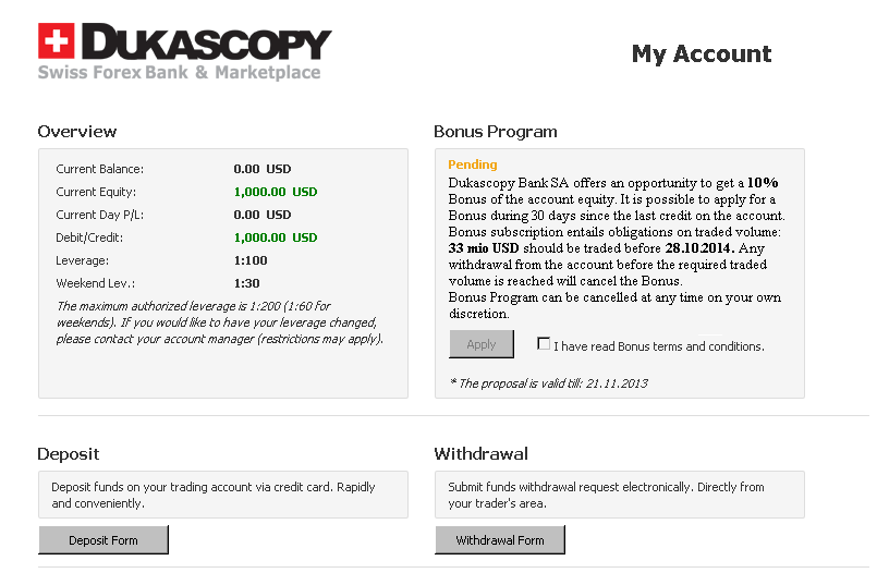 Dukascopy forex withdrawal