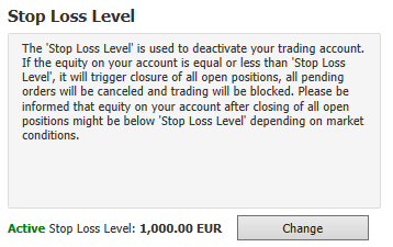 Equity Stop Loss