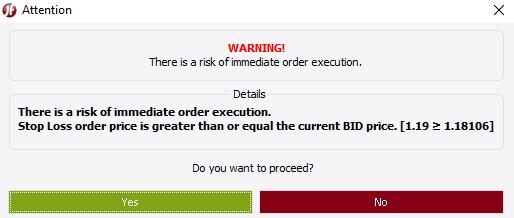 Validation Warning