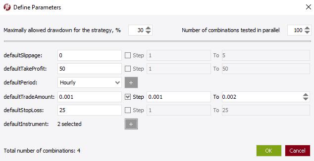 Define Parameters Optimization