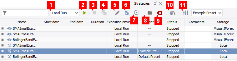 Strategy Tab Overview