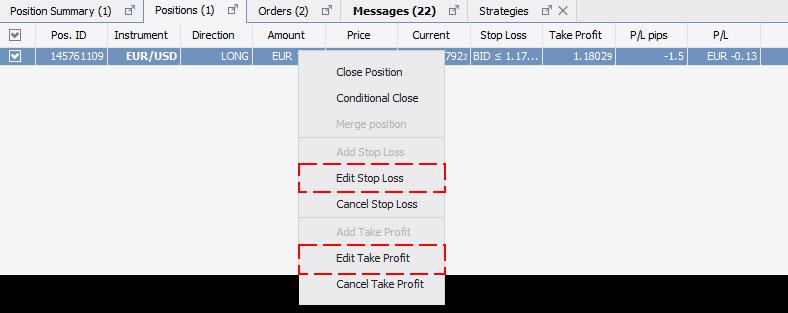 Edit Order Pos Tab